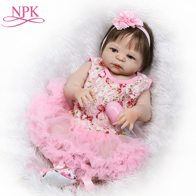 NPK 22 Adorable girl toddler baby alive dolls full silicone vinyl reborn baby dolls realistic newborn babies dolls bebe reborn npk hot sale reborn baby dolls realistic girl princess 23 inch baby dolls alive reborns toddler bebe washable toy for kids gifts