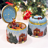 2018 New Xmas Decoration Christmas Elk Christmas Tree Music Box Fashion Astonated Box Birthday Gift Send