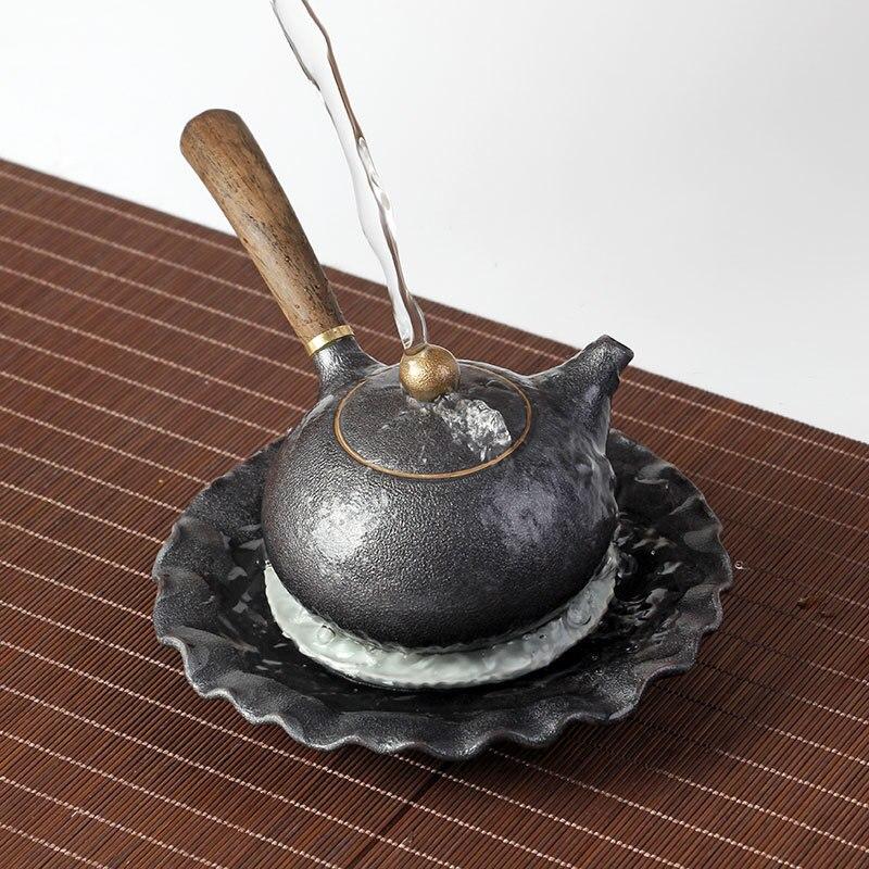 Image 5 - PINNY New Design Japanese Style Teapots Ceramic Wood Handle Kung Fu Tea Sets Porcelain Ceramic Kettle Vintage Tea Serviceservice teaservice setservice porcelaine -