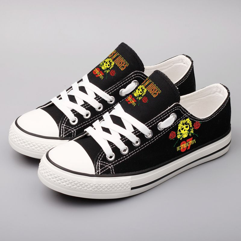 Fashion Design Heavy Metal Printed Rock Band Canvas Shoes Men Customzied Couples Casual Shoes Zapatillas Mujer