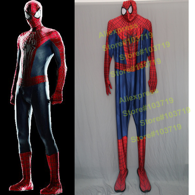 Hero Catcher Amazing Spiderman Costume 3D Prin Original Movie Halloween Spandex Spiderman Suit & Hero Catcher Amazing Spiderman Costume 3D Prin Original Movie ...