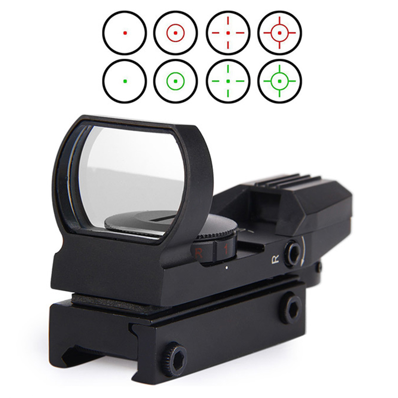 Rail Riflescope Hunting Airsoft Optics Scope Holographic Red Dot Sight Reflex 4 Reticle Tactical Gun Accessories aim o red dot tactical hunting sight scope srs reflex 1x38 iron optics riflescope for airgun ao3040