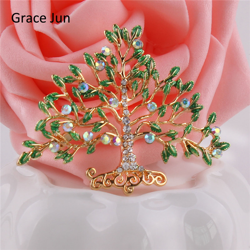 30Pcs/lots Wholesale Money Tree Brooches for Women Men Fashion Enamel Brooches and Pins Suit Lapel Fine Jewelry Bijoux Good Gift