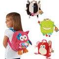Sozzy macio 5 estilos crianças mochila de pelúcia brinquedos do miúdo das meninas dos meninos do jardim de infância bonito dos desenhos animados de animais escola saco de Comida De Armazenamento