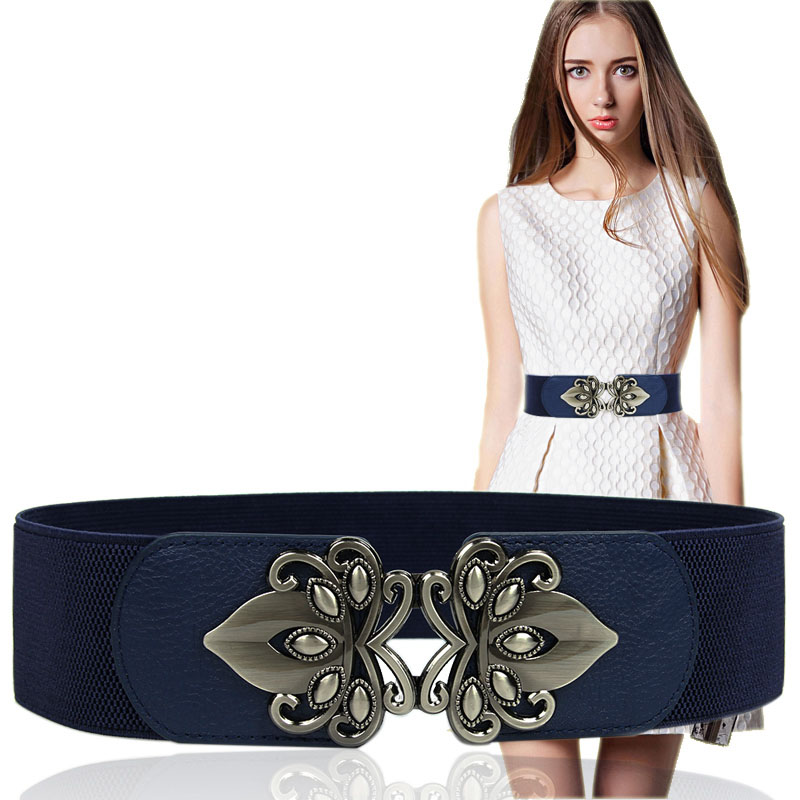 2019 Fashion Wide Waist Belt Waistband Women's Retro Cummerbund Black Bandage