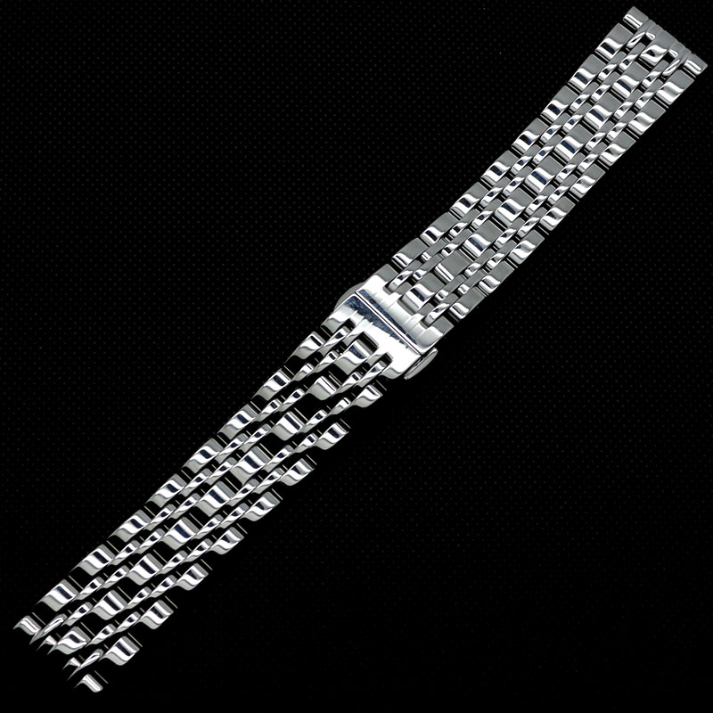 20mm Stainless Steel Solid Nine Bead Links Watch Band Bracelet Strap for Wrist Watch Quartz Mechanical watches adiors women s high temperature fiber neat bang wig
