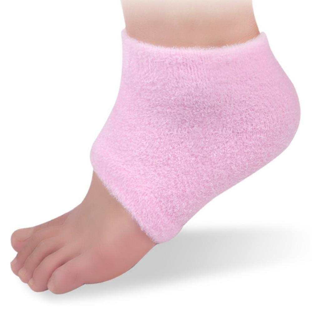 1 Para Rosa Feuchtigkeits Spa Gel Ferse Fuß Socken Geknackt Trockenen Fest Fuß Hautpflege Fußpflege Protektoren Füße Haut Protector Werkzeuge SchnäPpchenverkauf Zum Jahresende Fußpflege-utensil