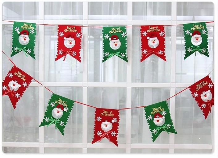 Free Shipping Christmas Banner Santa Claus Flag Christmas