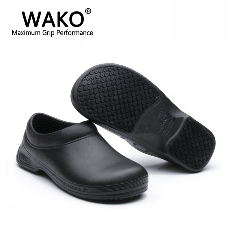 Image 5 - WAKO Male Chef Shoes Men Sandals for Kitchen Workers Super Anti skid Non Slipping Shoes Black Cook Shoes Safety Clogs Size 36 45-in Men's Sandals from Shoes