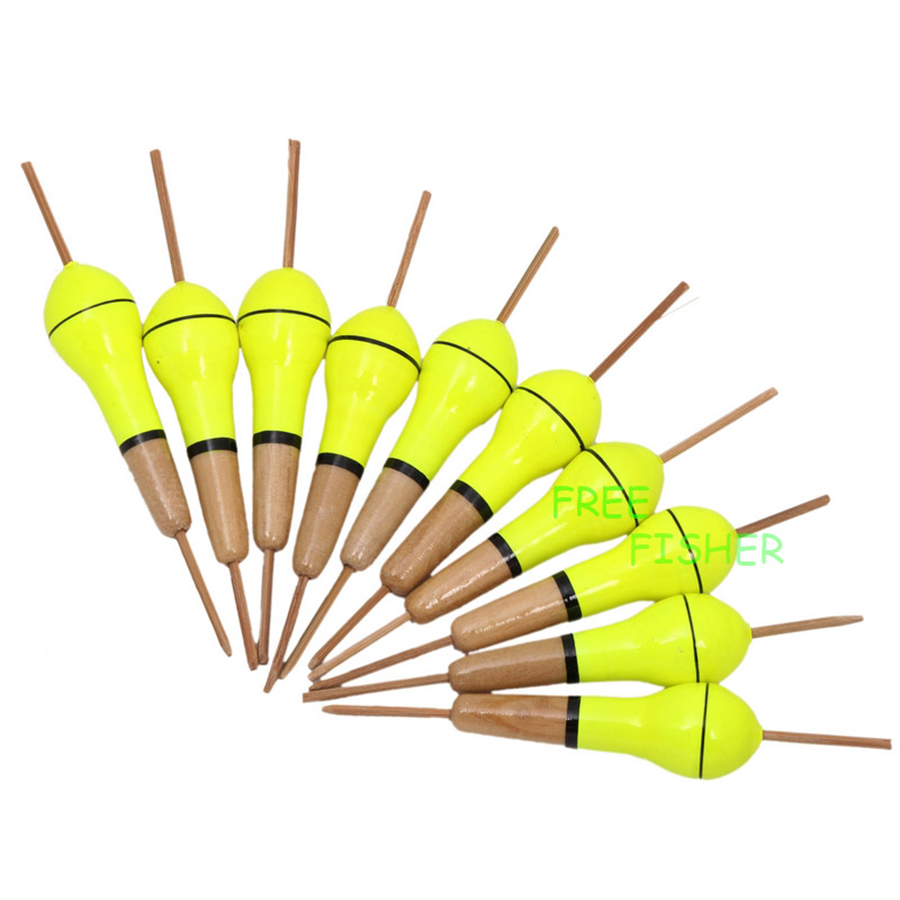 10 teile / satz Fishing Bobbers Cork Float Schwere Strom Balsaholz Fishing Floats Set 9,5 cm / 1,5g flotteur peche coup Pesca