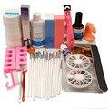 Pro Nail Art Set Gel UV Esmalte de Uñas Pinceles Limpiador Plus Uñas Pedrería Pegamento Manicura