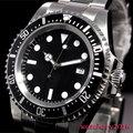 42 мм parnis черный стерильный циферблат светящиеся знаки Дата Окно Винтаж море автоматический механизм мужские часы