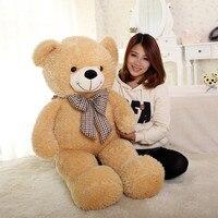 high quality bowtie teddy bear plush toy soft throw pillow birthday gift w5460