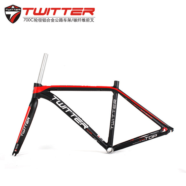 Twitter Road Bicycle aluminum alloy AL7005 frame carbon fork racing bike frame 46/48/50/52cm soldier sj 327 aluminum alloy bicycle racing kickstand black