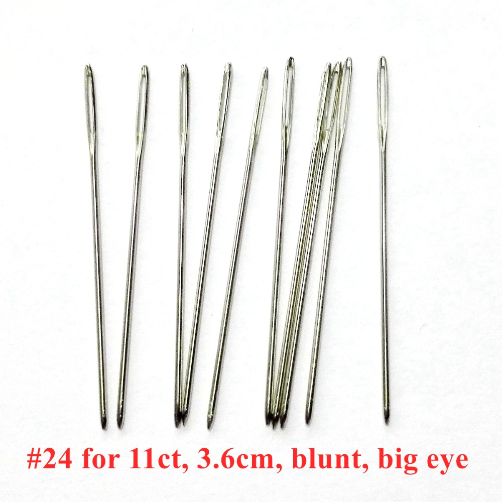 100pcs Large Eye Embroidery Fabric Cross Stitch Needles Sewing Craft 24# For 9CT