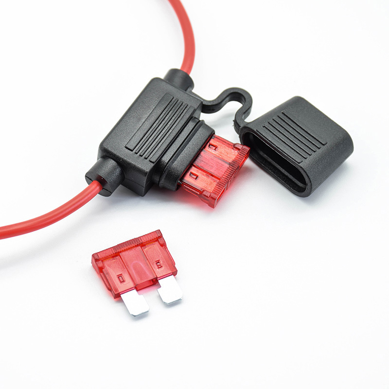 Waterproof Power Socket Small Blade Type Inline InLine Fuse Holders With 10A Fuse Auto Car Replacement Fuses Length  16AWG