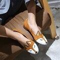 2017 Nova Primavera Sapatos Baixos Senhoras Confortáveis Sapatos de Camurça de Couro de Raposa Mulheres Crina Sapatos Mulher Loafer