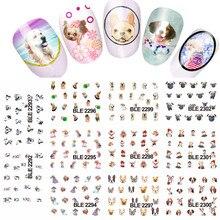 11 wzorów śliczny pies wzór zwierzęcy woda paznokci tatuaż transferu paznokci kalkomania DIY narzędzia kosmetyczne do manicure # LABLE2292 2302