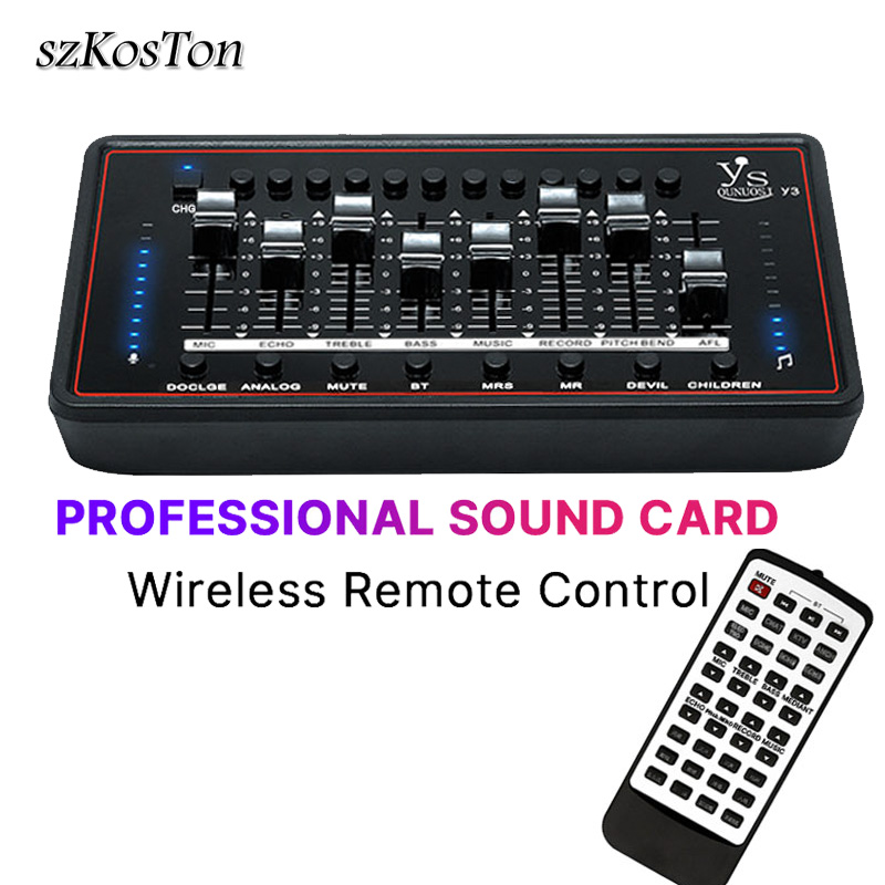 Professional Sound Card Audio Interface External USB Headset Microphone Sound Card For Computer Phone Record Music