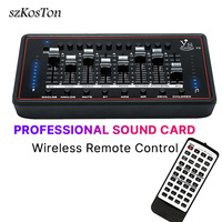 Professional Sound Card Audio Interface External USB Headset Microphone Sound Card For Computer Phone Record Music Bm 800 Mic