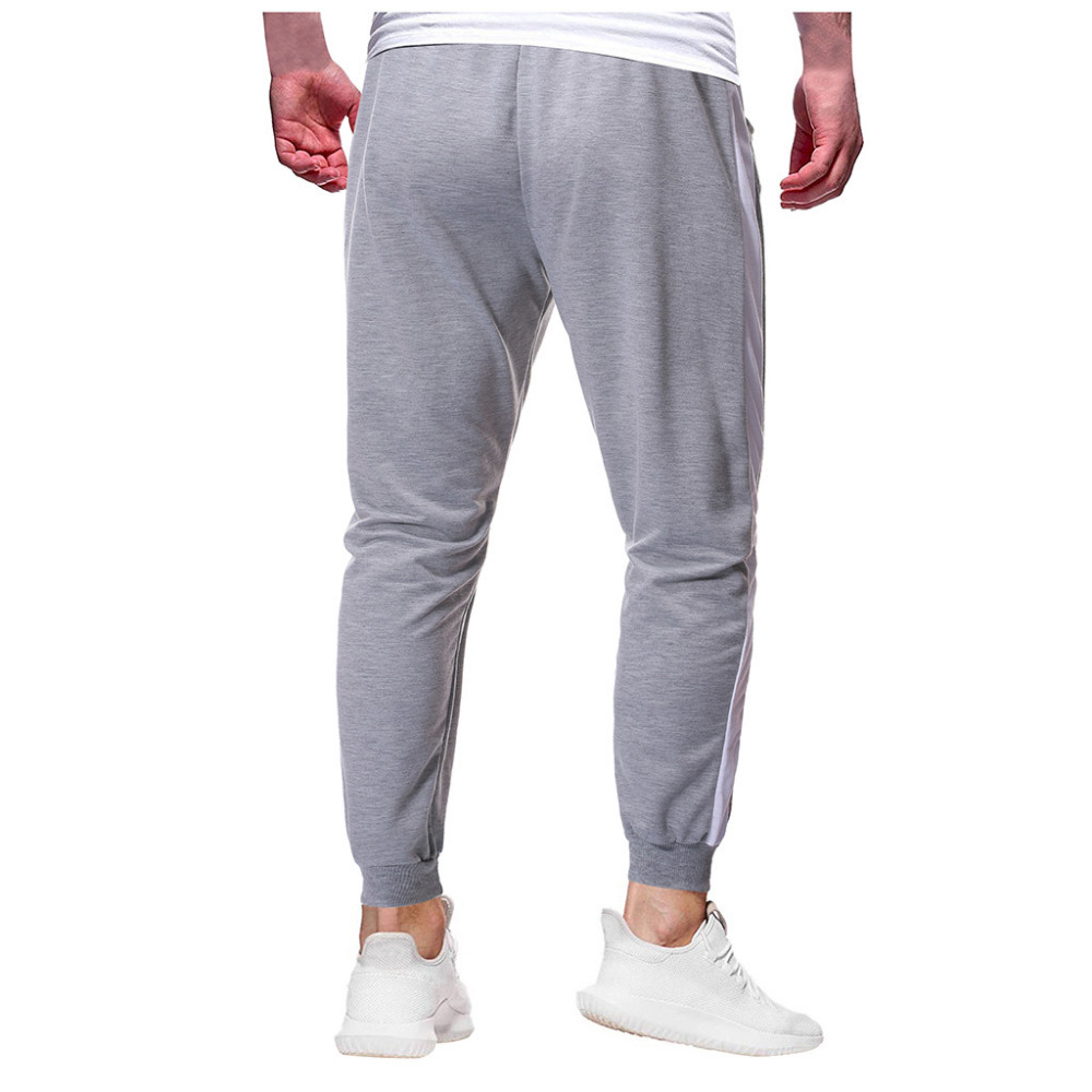 2019 Men\`s zipper solid color jogging pants casual pocket sports cargo pants outdoor sports harem pants men Quick drying 40J6 (12)