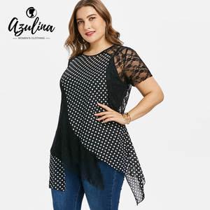 bff3e7504b0 AZULINA Plus Size T-Shirt Top T Shirt 2018 Women S Clothing