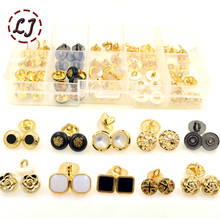 New fashion button 10pcs/lot snap buttons black gold small Decorative button for T-shirt neckline cuff garment accessories DIY