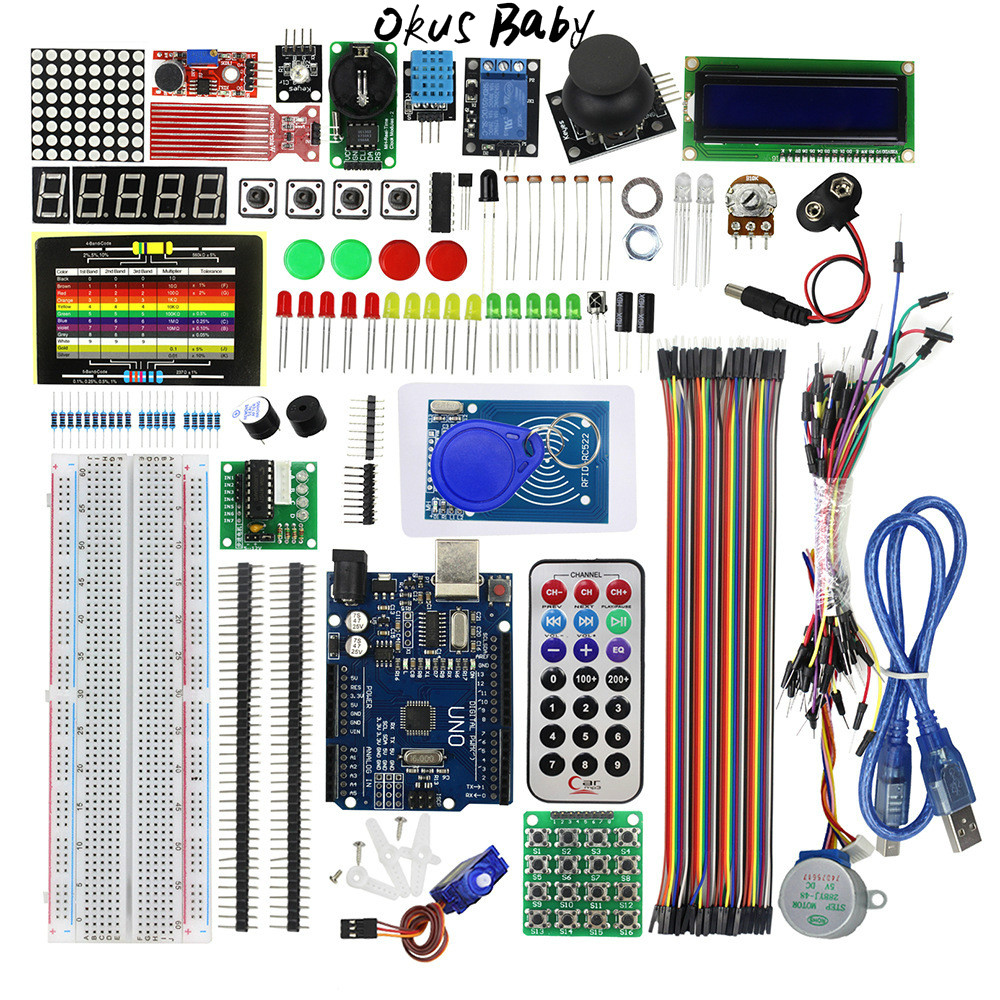 2019 Newest RFID Starter Kit For Arduino UNO R3 Upgraded Version Learning Suite With Retail Box