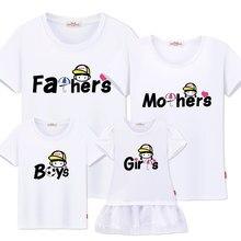 c13bc8a8389ee Famille correspondant vêtements new summer coton T-shirts pour père mère  garçon Fille famille correspondant tenues grande soeur .