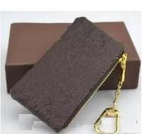 2018 WOXK new fashion genuine leather coin purse with dustbag and box women/men small zippy wallet free shipping