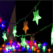Christmas Decoration Light 50 LED String Light Waterproof DC 4.5V Star Shaped Led Strip Wedding Garland Outdoor  LED Lamps
