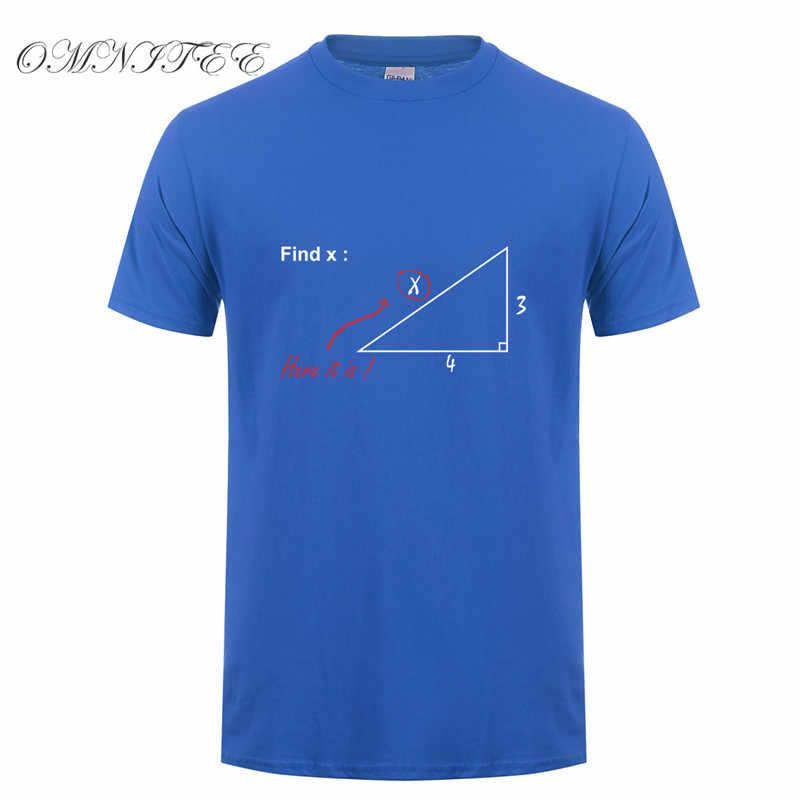 Sommer Mode Finden Variable T-shirt Lustige Männer Mathematik lehrer T-shirt Kurzarm Baumwolle Cartoon Bedruckt Männer T Shirts OT-689