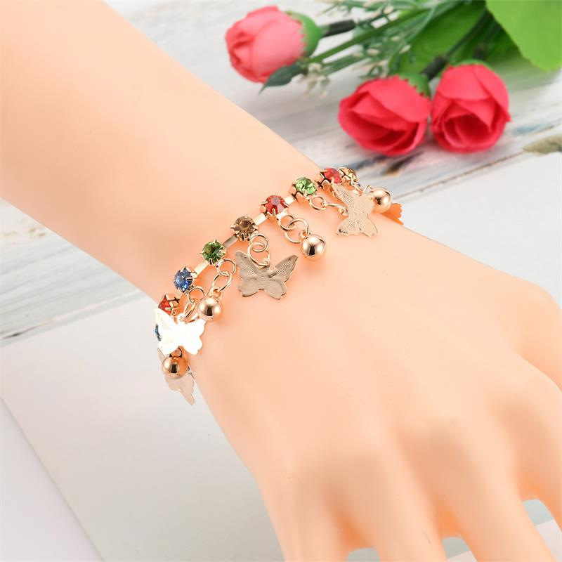 Cute Children Beautiful Butterfly Charm Bracelet For Girls ...