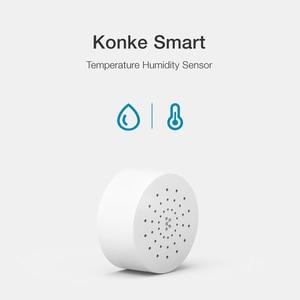 Image 2 - جهاز استشعار درجة الحرارة والرطوبة Konke زيجبي يعمل مع أليكسا جوجل مساعد المنزل