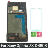 LCDs For Sony Xperia Z3 D6603 D6633 D6643 D6653 LCD With Frame Display Touch Screen Digitizer Replacement Parts Assembly New