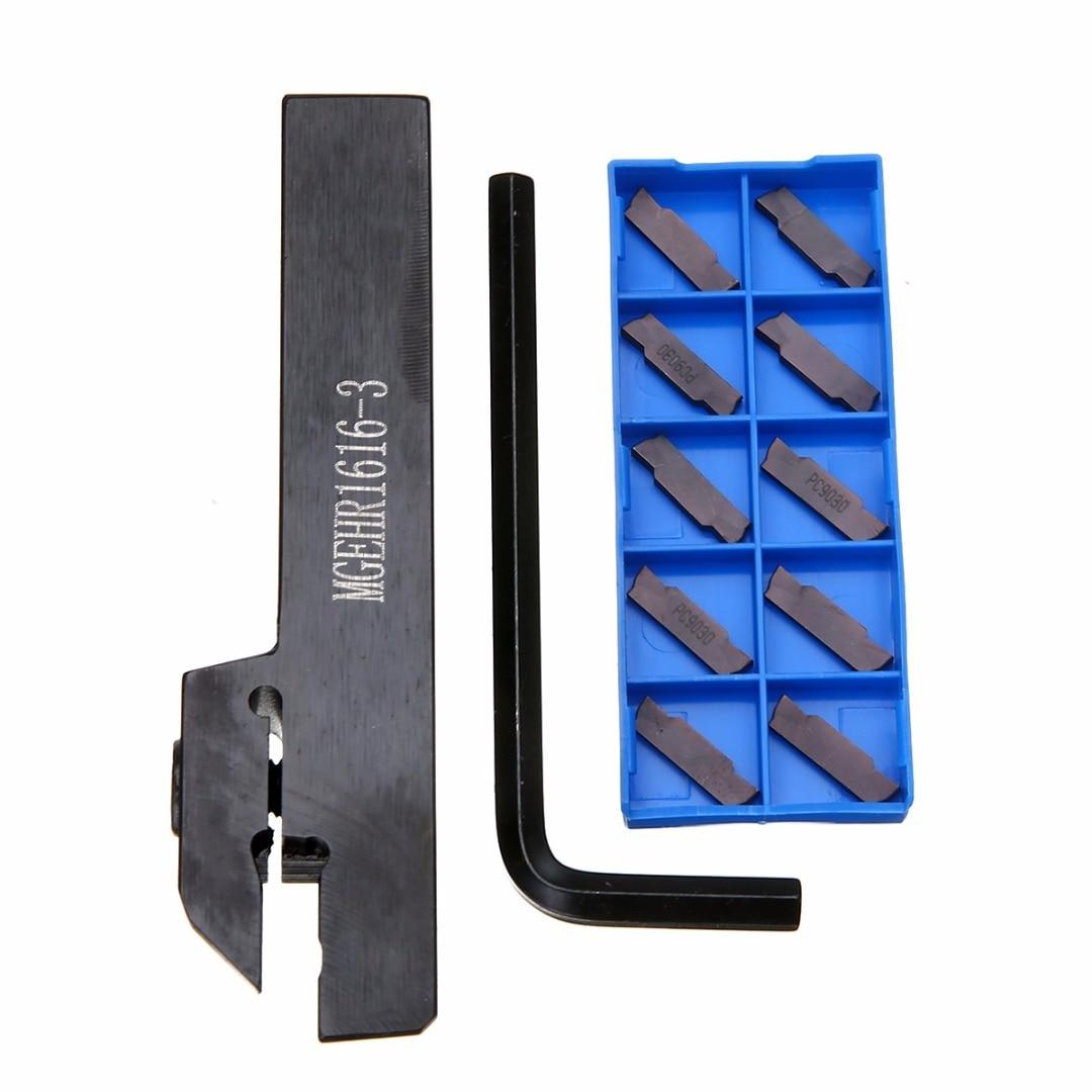 Il trasporto libero, MGEHR1616-3 1 PZ e 10 pz MGMN300-M, utensile di scanalatura tornitura supporti strumenti barra di inserto in metallo duro
