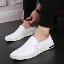 Boat Shoes 2019 Fashion Sneakers Men Casual Loafers Leather Flats Moccasins Mens Genuine