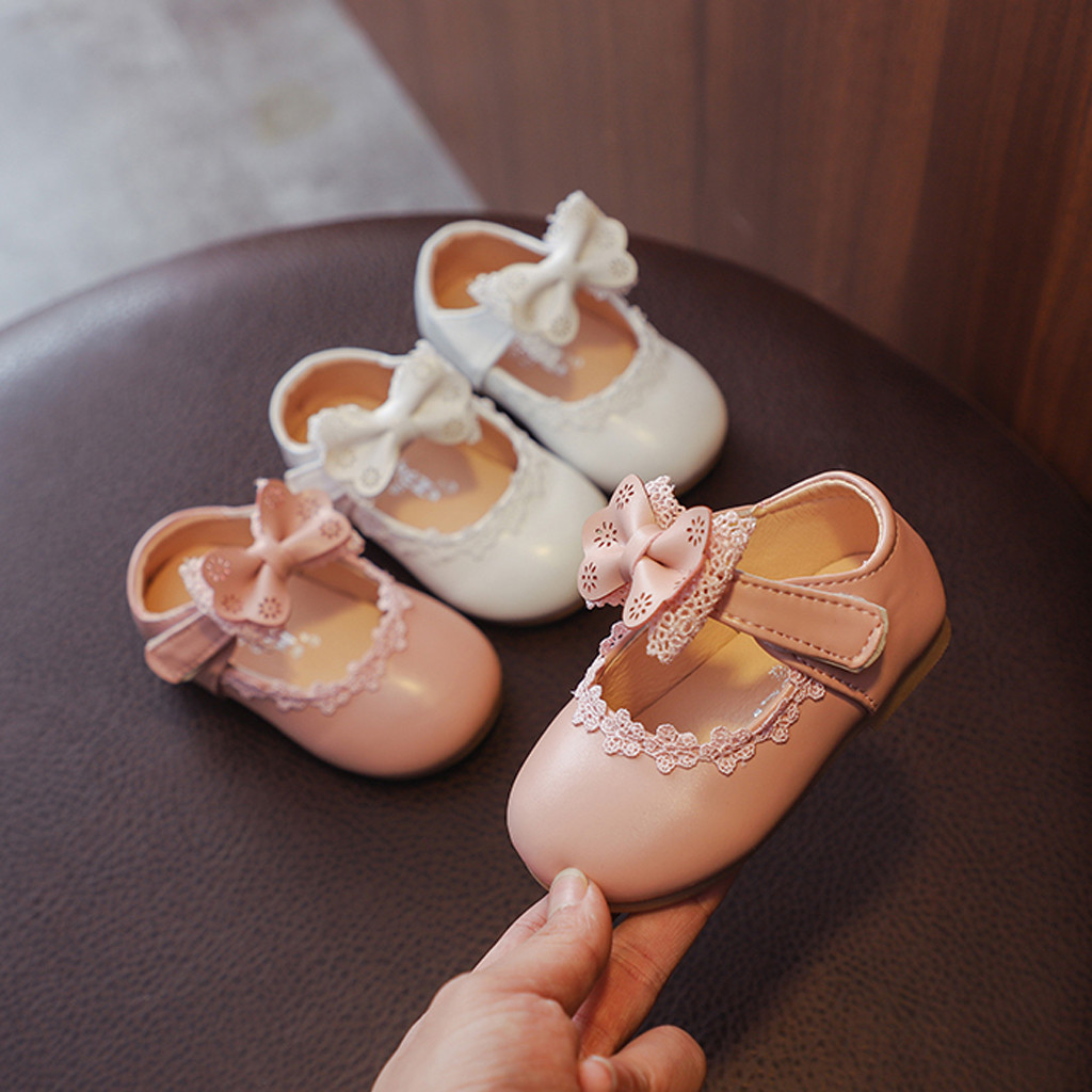 Beautiful Princess Shoes Toddler Infant Kids Baby Girls BowKnot Single Princess Shoes lovely exquisite 2019 baby products