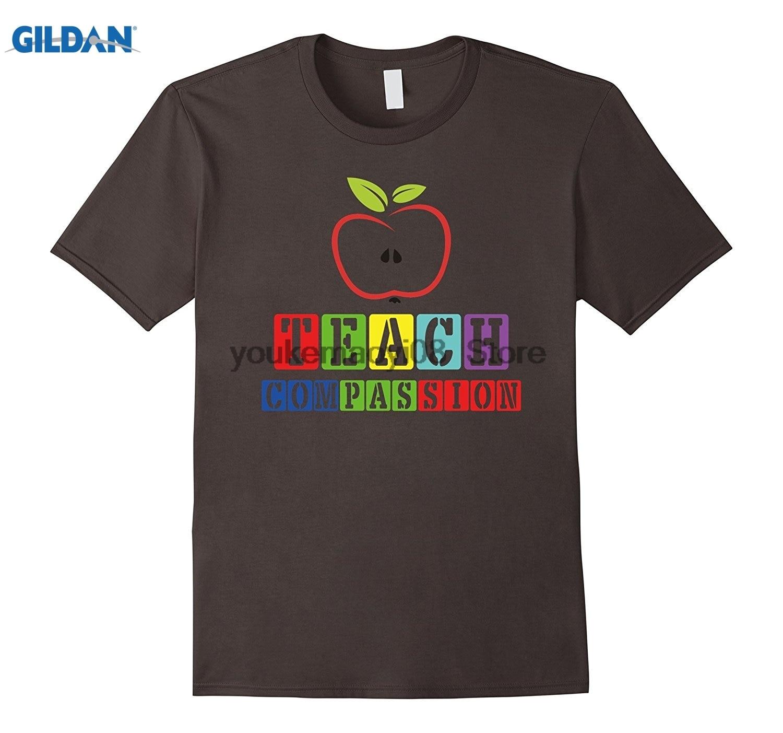 GILDAN cotton printed O-neck T-shirt Day Gifts Shirt Teach Compassion T-Shirt