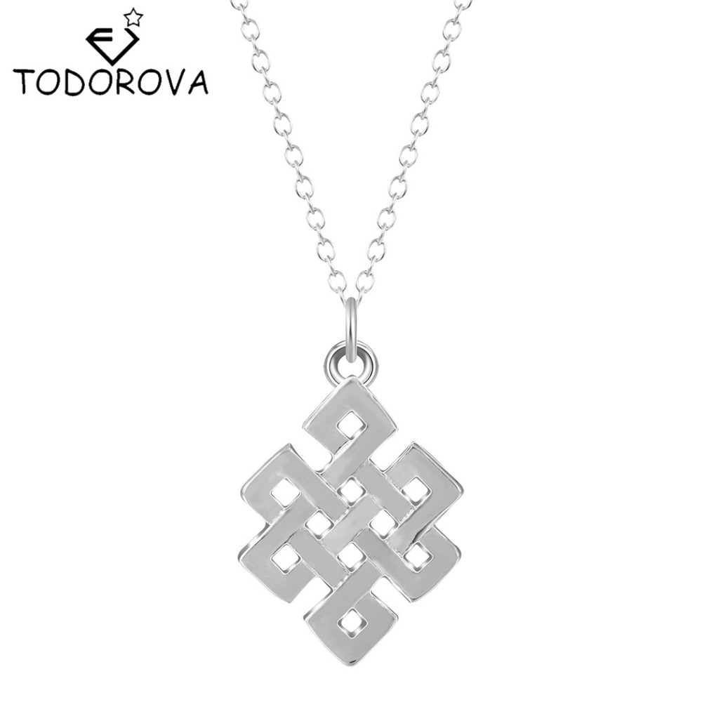 Todorova 10pcs Eternal Endless Infinity Knot Geometric Necklaces & Pendants for Women Vintage Accessories Minimalist Jewelry