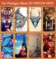 Новая Мода Окрашены DIY Цветные МЯГКИЕ TPU Чехол Для Prestigio Muze D3 PSP3530 DUO 3530 Duo Дело E3 PSP3531 DUO 3531 случае