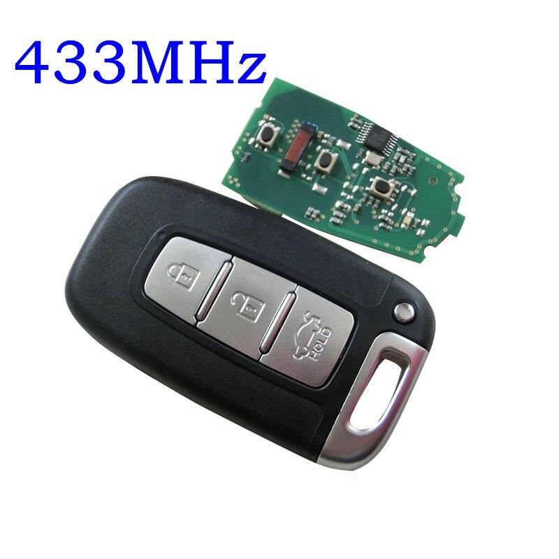 3 Botão chave remoto Inteligente para Hyundai IX35 Sonata 8 Kia K2 K5 Sportage Forte Substituição fob chave inteligente