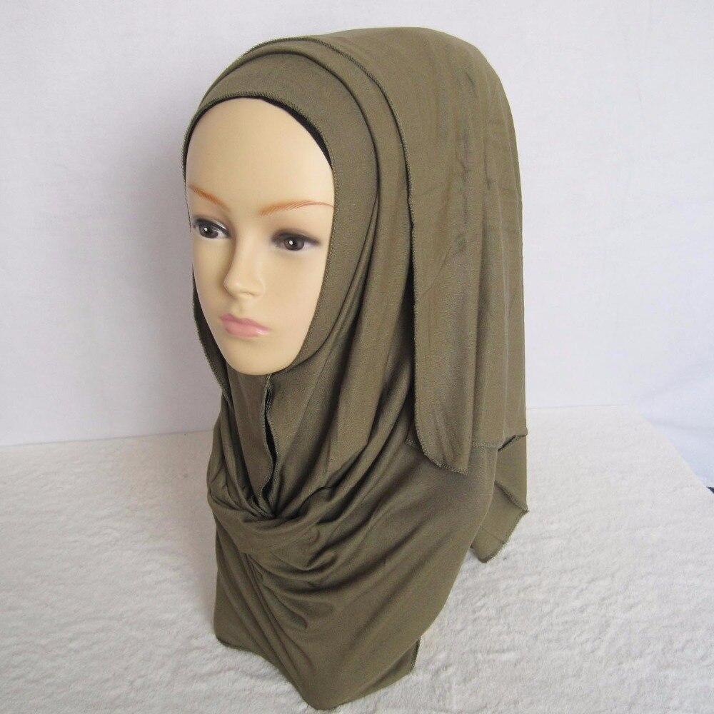 Aliexpress.com : Buy Jersey hijab cotton jersey shawl ...