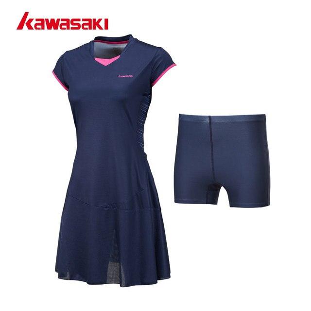 a7e10f0f64 2018 Kawasaki Tênis Feminino Vestidos com Shorts para Mulheres Meninas  Roupas Quick Dry 100% Poliéster