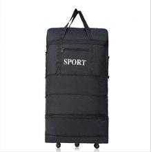 2017 wholesale ultraleichte gepäck reisetasche große kapazität universalräder versenkbaren klapp schlepper box