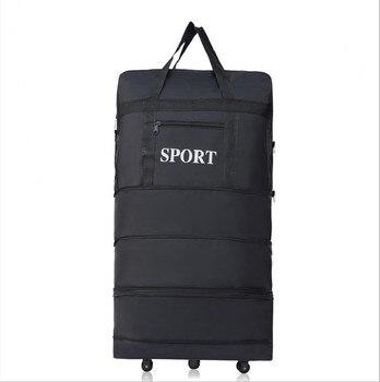 2018ขายส่งเบากระเป๋าเดินทางกระเป๋าความจุขนาดใหญ่ล้อสากลพับหดลากจูงกล่อง