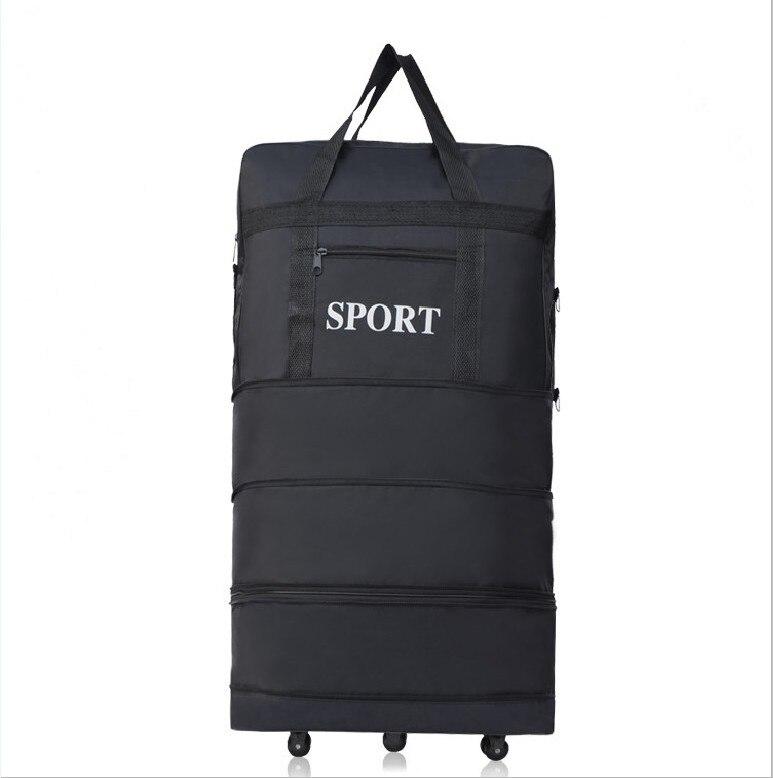 цена 2018 wholesale ultra-light luggage travel bag large capacity universal wheels retractable folding tug box