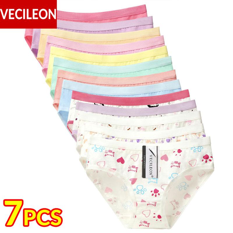 Buy 7PCS Cotton Underwear Women Panties Plus Size Pants Large Womens Ladies Female Girls Panty Low-Rise Briefs Calcinha M~3XL