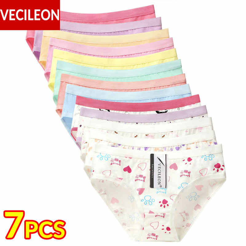 76f740ae6b5 7PCS Cotton Underwear Women Panties Plus Size Pants Large Womens Ladies  Female Girls Panty Low-