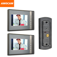 7 Monitor Video Door Phone System Video Intercom IR Night Vision pinhole Door Camera video doorbell interphone kits 2 Screen